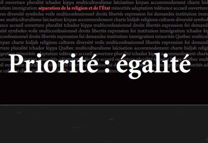 Texte affichant «Priorité : égalité»