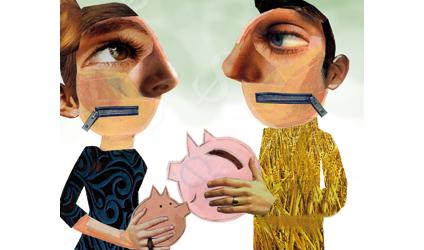 Montage papier de deux personnages.