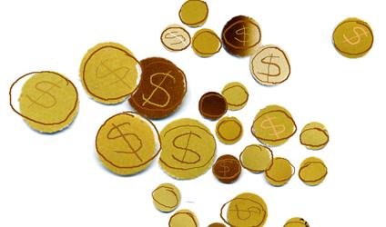 Image dessiné de pièces de monnaies