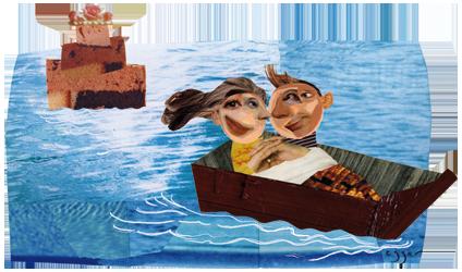 Image d'un couple en bateau