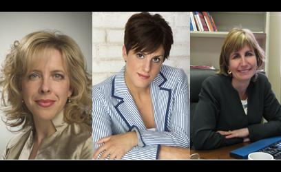 Photographie de Julie Latour, Djemila Benhabib et Nathalie Des Rosiers