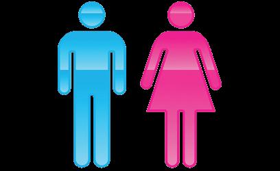 Image silhouette d'un homme et d'une femme.
