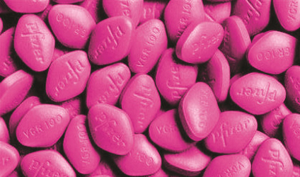 Photographie de comprimés de Viagra