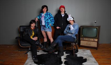 Photographie des quatres filles de Lesbians on Ecstasy