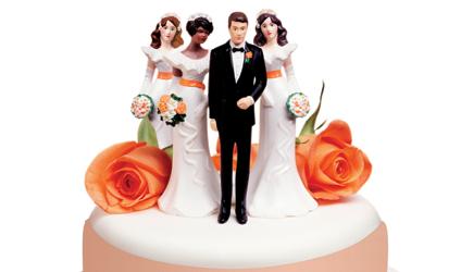 Image d'un gâteau de mariage.