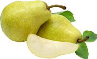 Image d'une poire coupée.