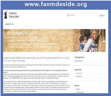 Illustration de la page d'accueil du site de Fanm Deside