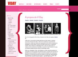 Illustration de la page d'accueil du site V-DAY