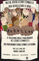 Illustration d'une pancarte lors d'un événement organisé par Rebelles