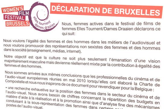 Illustration du texte de la Déclaration de Bruxelles.