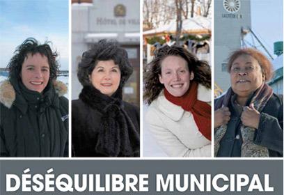 Photographie Mmes Pelletier,Ruest-Jutras,Bastiani et Levy.