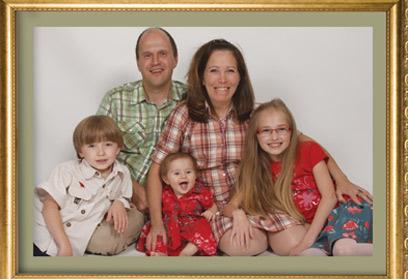 Photographie d'un portrait d'une famille