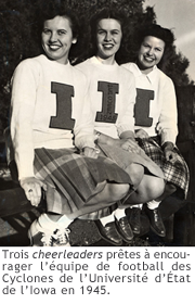 Photo des cheerleaders de l'Iowa 1945