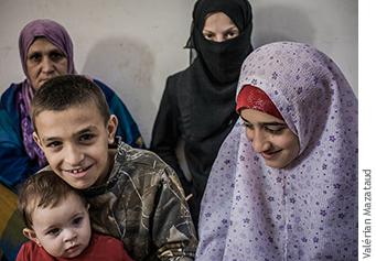 Photographie de la famille d'Amira.