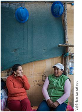Photographie de Ruth Griselda Yanarico et Vilma Cheyje.