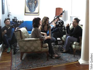 Photographie d'une des entrevues pour « Crée-moi Crée-moi pas »
