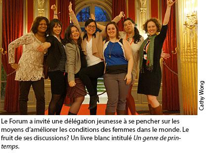 Photographie de la délégation jeunesse au Forum