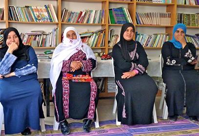 Photographie de quatre femmes Bédouines
