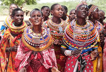 Photographie groupe de femmes Kenyanes.