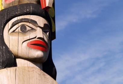 Photographie d'un totem