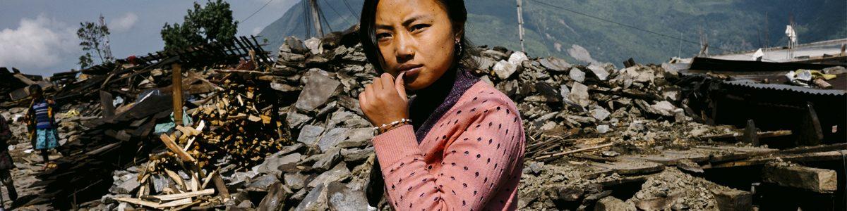 Photographie d'une femme au Népal.