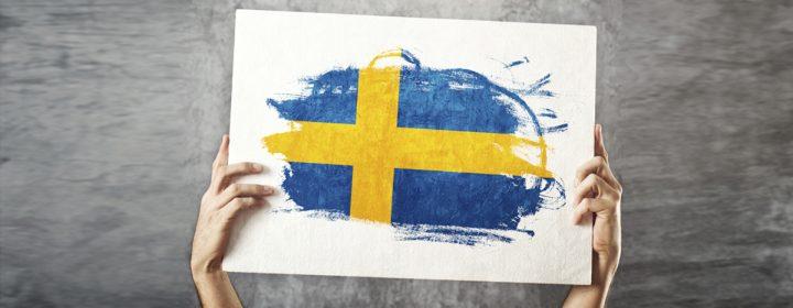 Photographie du drapeau de la Suède