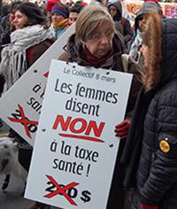 Martine Eloy, militante.