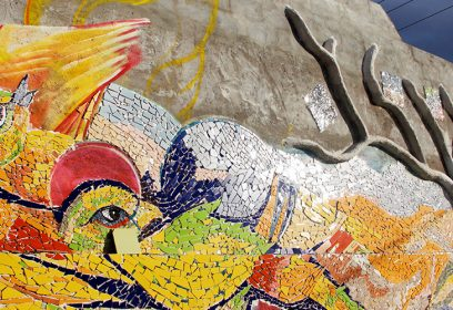 Murale en mosaïque.