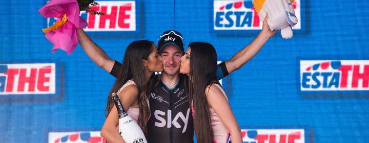 Elia Viaviani sur le podium.
