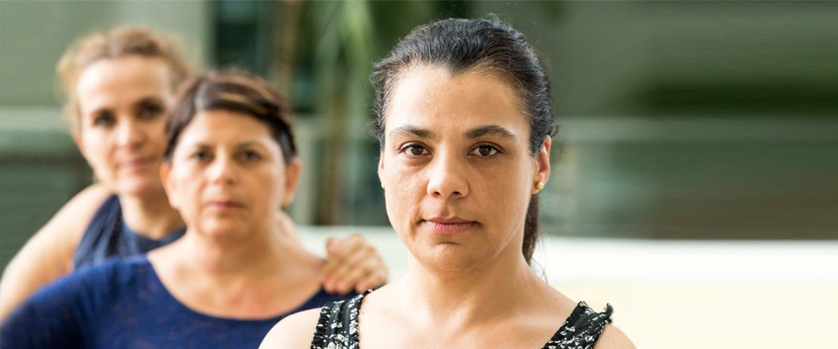 Trois femmes immigrantes,
