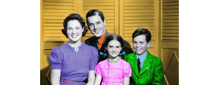 Photographie d'une famille de style vintage.