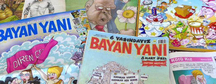 Photographie de plusieurs magazines Bayan Yani.