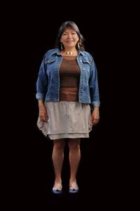 Photographie d'une femme autochtone.