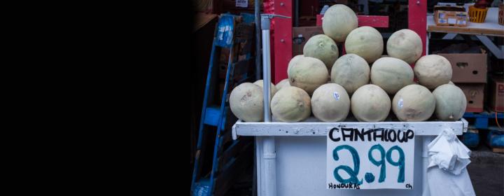 Photographie de melons à vendre.
