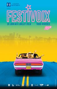 Visuel du FestiVoix de Trois-Rivières.